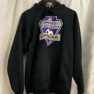 Black OFSAA soccer hoodie